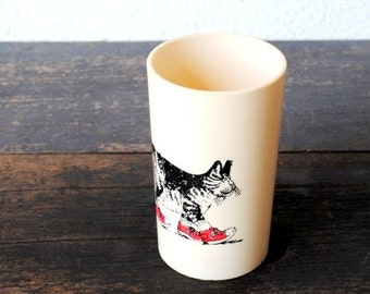 Rare Kliban Cat Cartoon Cup, Signed Collectible Office Decor Pencil Holder