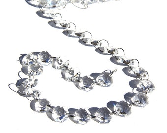 6 Feet Crystal Glass Beaded Garland for Wedding Centerpiece Decorations and Party Decor