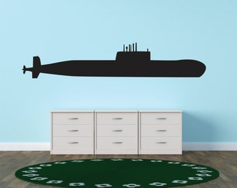 Military War Airplane Army Navy Submarine United States Of America Childrens Kids Boys Stick Sticker Vinyl Wall Decal  5x30 Color130