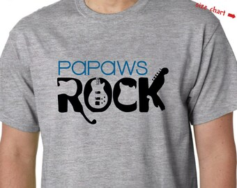 Papaw Shirt - Papaws Rock Personalized Shirt - Father's Day Gift - Papaw Birthday Gift or Papaw Christmas Gift