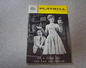 1966 On a Clear Day You Can See Forever Playbill