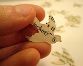 Vintage Wedding Confetti // Book Page Bird Confetti // Book Themed Wedding