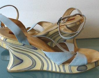 Vis a Vie Wooden Platform Sandals