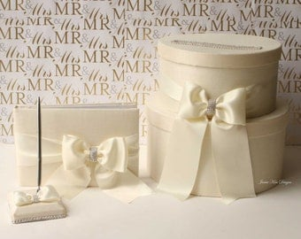 Wedding Card box, Guestbook and Pen Set- Custom Made to Order