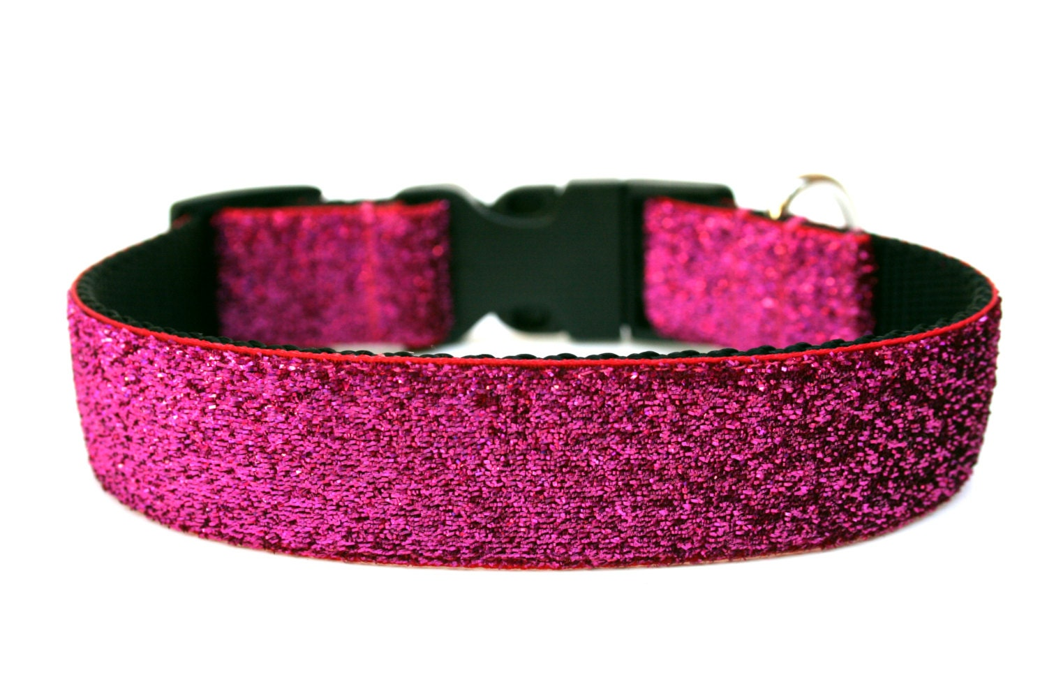 Hot Pink Dog Collar 1 Pink Glitter Dog Collar - photo#42