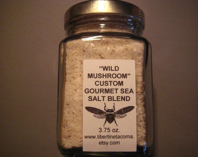 Wild Mushroom and Sea Salt Custom Gourmet Culinary Blend