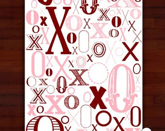 Greeting card - From your head down to your toes, I'll cover you in X's and O's - love, valentine, anniversary, wedding LGBT