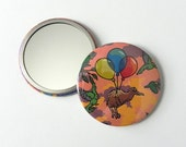 Kiwi Compact Pocket Mirror Kiwi Bird Balloons
