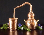 Miniature Copper Alembic Still