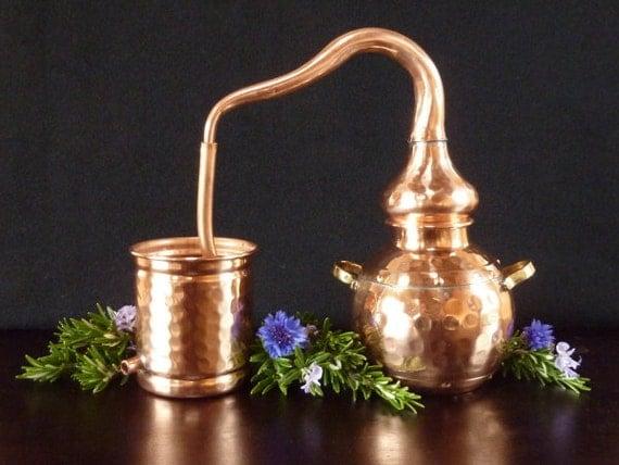 Miniature Copper Alembic Still
