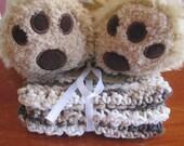 Crocheted Baby Washcloths in Mocha Swirl