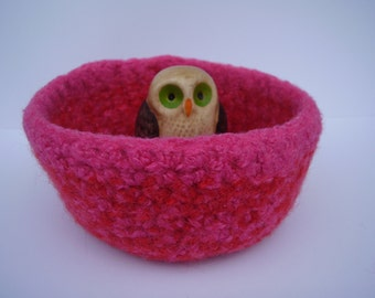 felted wool container clementine and rose bowl treasure dish