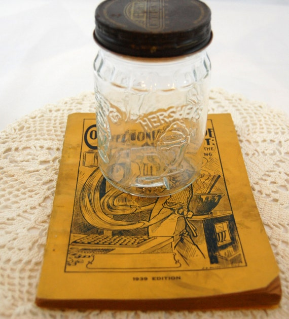 Vintage Hershey Jar, Vintage Candy Making Book from The Eclectic Interior