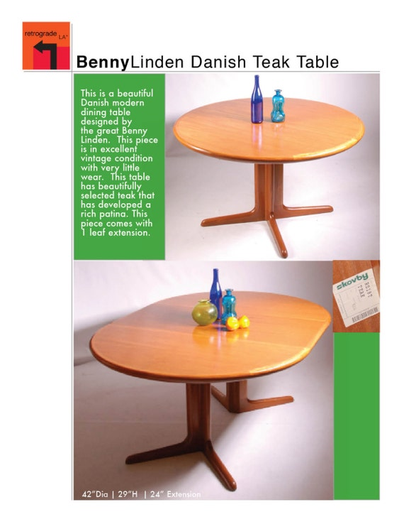 Dining Table Benny Linden Dining Table