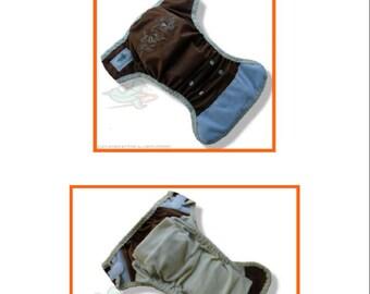 PDF Cloth Diaper Sewing Pattern - Rocket Bottoms TWIST OS