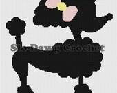 Poodle w/Bow graph crochet pattern