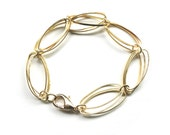 Gold Link Bracelet - Simple, Minimalist, Handmade Jewelry by Jessica Kime