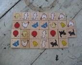 animal tiles wooden tiles 13 game pieces jewelry supplies mixed media scrapbooking