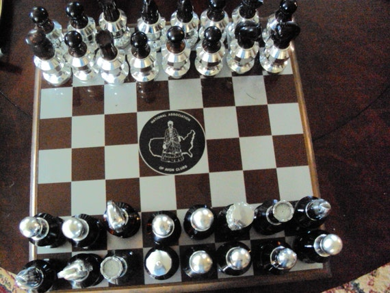 RARE vintage AVON cologne Chess set with cologne in the bottles