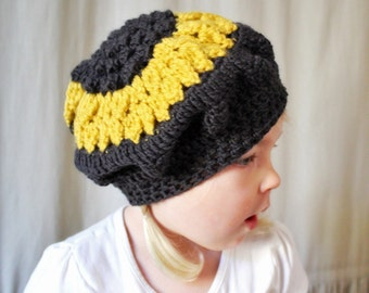 Crochet Pattern: The Betsy Tam -Toddler, Child, & Adult (Sm/Med.) Sizes- sunflower, beret, summer, scout
