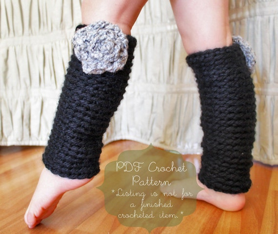 Crochet Pattern: The Chelsea Leg Warmers Toddler Child and