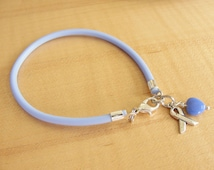 Periwinkle Awareness Bracelet (Rubber) - Cleft Palate, Eating Disorders, Esophageal Cancer, Stomach Cancer, GERD, IBS, PH  & More