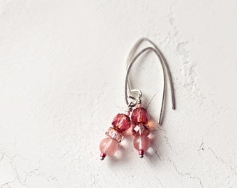 Cherry Quartz Gemstone Earrings for Everyday Wear and Special Occasions