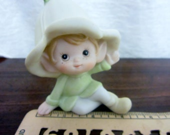 Green Pixie Homco Figurine Collectible 5615