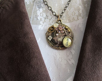 Antique Gold Steampunk Necklace