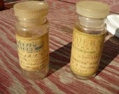 antique clear glass persrciption bottles - vintage medicine drug store pharmacy collectibles