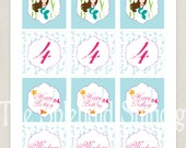 """Printable Customized 2"""" Party Circles - Mermaid Party Collection - DIY Printable by The Splendid Shindig"""