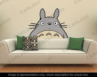 Totoro Inspired - Totoro Head Wall Art Applique Sticker