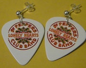 Sgt. Pepper's Lonely Hearts Club Band Guitar Pick Earrings