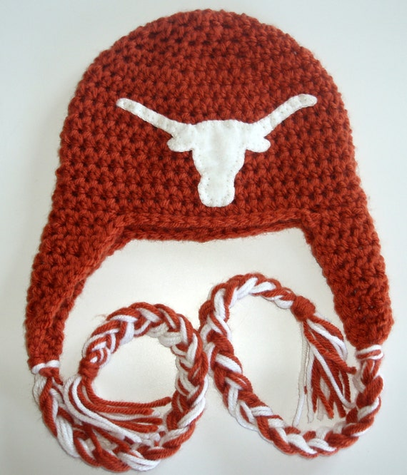 Crochet Pattern For Texas Longhorn Afghan : Items similar to University of Texas, UT, Longhorn ...