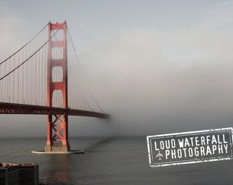 Golden Gate Bridge in Fog, San Francisco, Pacific Ocean, 5x7 IN STOCK