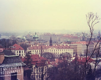 Rooftops of Prague, Mala Strana,  Czech Republic Landscape, European Fine Art Photography 5x9 Wall Art Decor
