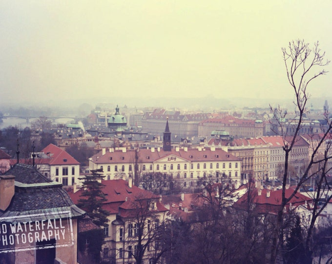 Rooftops of Prague, Mala Strana,  Czech Republic Landscape, European Fine Art Photography 5x9 Wall Art Decor
