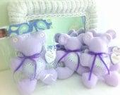 Fleece Teddy Bear Charity item Haiti Orphanage Gift Handmade Toy Donation Prayer Bear Toy Bear