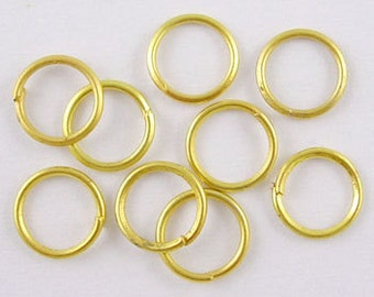 s00809- half oz approx 150 Golden Color Jumprings,Iron JumpRings, Close but Unsoldered, Nickel Free, Golden, 0.7mm thick