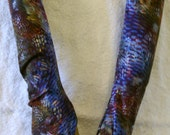 Handmade Fingerless Gloves In Gorgeous Abstract Pattern  Tactile And Stretchy