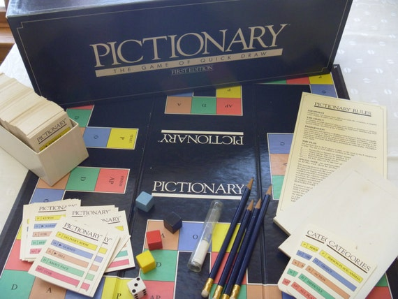 Pictionary Board Game Original Game of Quick by ...