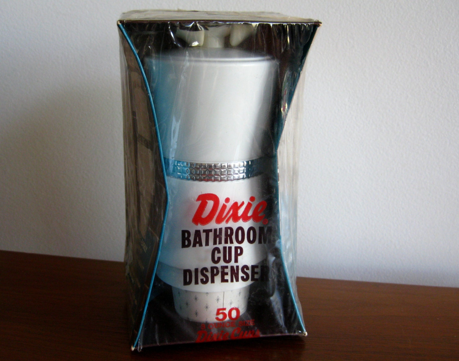 Vintage 50s Nos Dixie Cup Bathroom Wall Mount Dispenser Unused