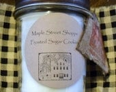 Country Primitive wood  wick Jar Candles   8oz      /            Free Shipping on this item