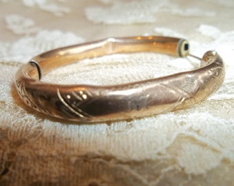Antique Childs Monogrammed Bracelet....Victorian....Gold Filled...Not Perfect