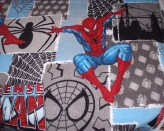 1 yard-fleece fabric- Spiderman