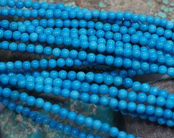 Sleeping Beauty Turquoise Beads 3.3 mm Natural Gemstone Beads