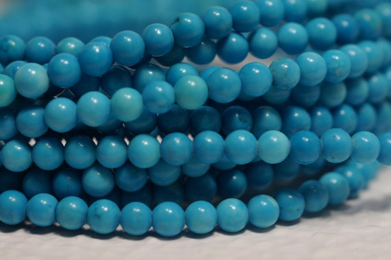 Sleeping Beauty Turquoise Beads 2.3 mm Round Beads Natural Gemstone Beads