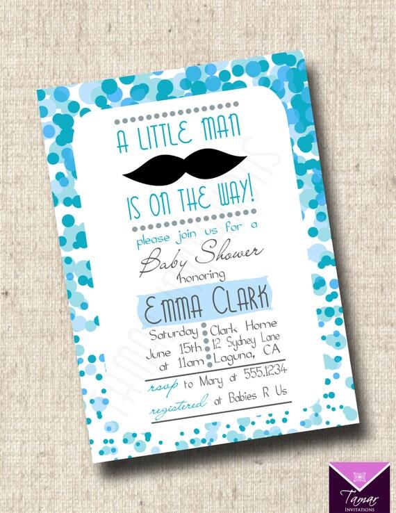 Printable baby shower invitation mustache little man baby boy il570xn filmwisefo