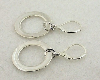 Sterling Silver Lever Back Earrings 44