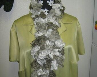 "Sashay Scarf  Extra Long Crohet Multi colored called "" RUMBA SHUFFLE "" 90 inch neckwear"
